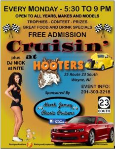 "North Jersey Classic Cruisers - ""Cruisin at Hooters"" @ Hooter's"