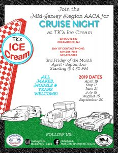 Cruise Night at TK's Ice Cream @ TK's Ice Cream