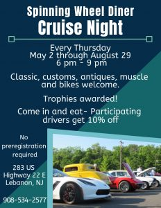 Spinning Wheel Diner Cruise Night  @ Spinning Wheel Diner